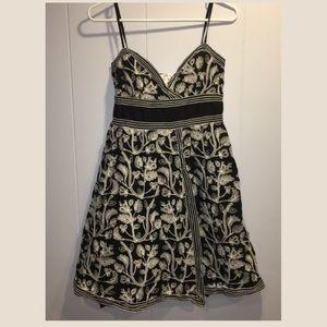 Max Studio cotton embroidered black & white dress